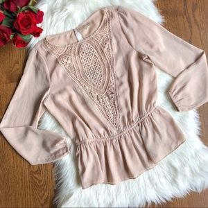 Forever 21 | Exclusive Pink Blush Nude Blouse Top
